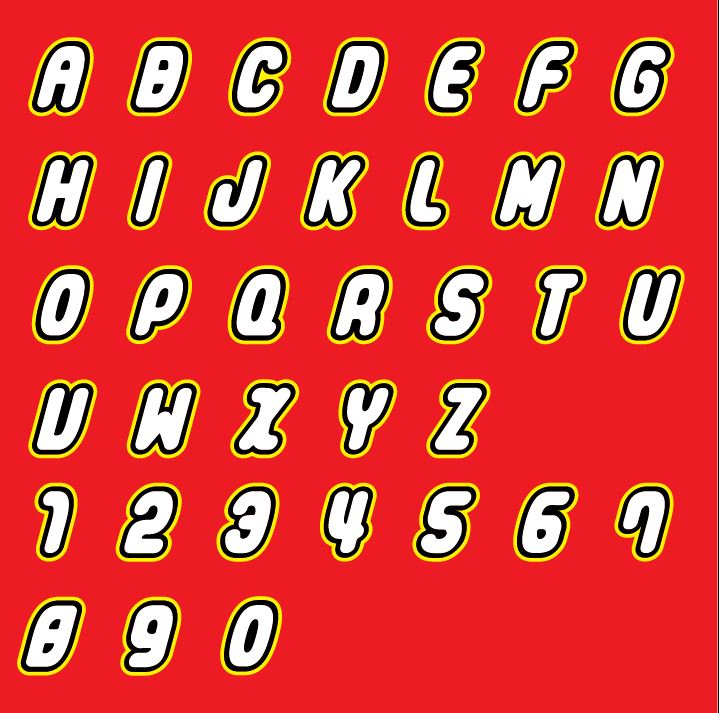 Download Lego brick letters and number SVG files. Includes step by ...